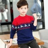 店長推薦 童裝男童毛衣套頭中大童線衣純棉加厚加絨秋冬新款韓版兒童針織衫