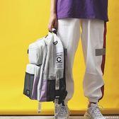 超大容量雙肩包bf風街頭潮流休閒背包2018新款多層旅行電腦書包     糖糖日系森女屋