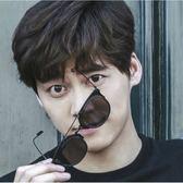 現貨-韓版ulzzang時尚百搭太陽眼鏡平板超輕冰冰同款墨鏡時尚復古太陽鏡男女太陽眼鏡156