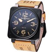 Bell & Ross 飛鷹戰士 自動機械腕錶-(BR0192-HERI/SWA)