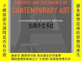 二手書博民逛書店【罕見】2012年出版 Theories And Documents Of Contemporary ArtY