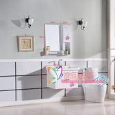 浴櫃 歐式浴室櫃組合小戶型掛牆式衛生間洗漱台洗臉洗手台現代衛浴台盆T 5色