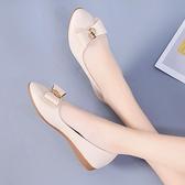 豆豆鞋 舒適軟底單鞋女夏秋季新款豆豆鞋平底防滑媽媽鞋百搭休閒淺口瓢鞋