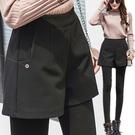 韓版顯瘦毛呢短褲 素面寬鬆加厚毛呢褲 M-2XL碼【RK67316】