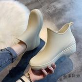 日系時尚雨鞋女短筒雨靴水鞋水靴防滑洗車買菜廚房鞋【毒家貨源】