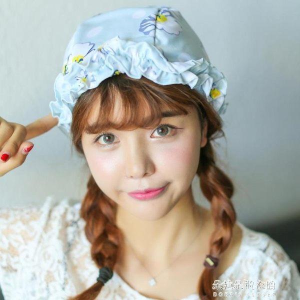 泳帽女長發成人女士加大不勒頭時尚可愛蕾絲溫泉大碼游泳帽  朵拉朵衣櫥