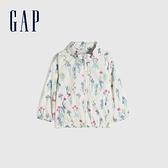 Gap女幼童 小碎花可收納式連帽外套 681319-花朵印花