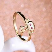 925純銀戒指-小猴子精緻動物生日聖誕節禮物女飾品73af40[巴黎精品]