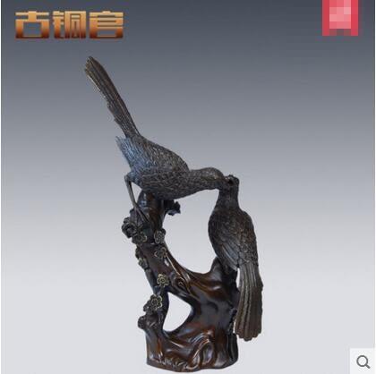 銅工藝品 家居擺件創意現代 喜上眉梢喜鵲