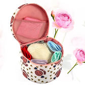 《J 精選》俏麗青春圓桶型多功能手提收納包/內衣包/化妝包