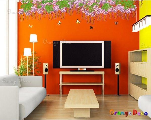 壁貼【橘果設計】中國風孔雀羽裳 DIY組合壁貼/牆貼/壁紙/客廳臥室浴室幼稚園室內設計裝潢