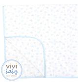 ViViBaby - Disney迪士尼超柔四方紗布浴巾 (藍)
