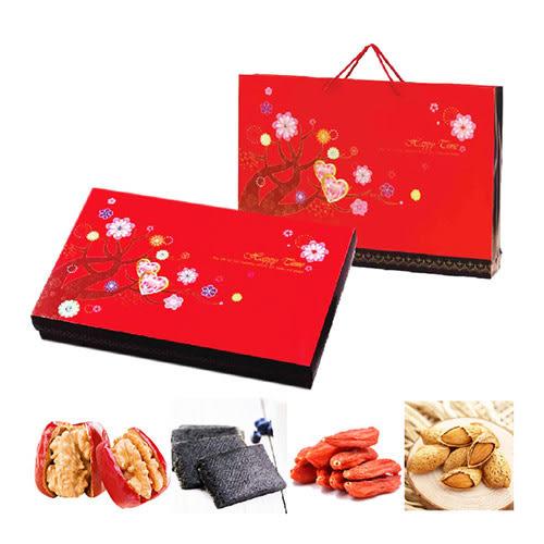 【瘋神邦】紅璽綜合堅果禮盒(芝麻糕、杏仁果、紅棗核桃、頂級枸杞)