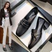 樂福鞋 粗跟單鞋女高跟2020春秋季新款小香風法式小皮鞋英倫風中跟樂福鞋 俏俏家居