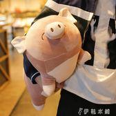 玩偶     毛絨玩具趴豬公仔女生抱著睡覺的娃娃可愛玩偶超萌搞怪韓國枕搞怪 伊鞋本鋪