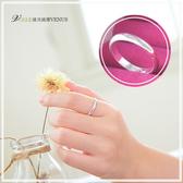 基本款 漂亮圓弧度925純銀戒指 可當項鍊墜子B - 維克維娜