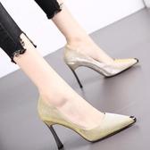 高跟鞋女細跟秋季新款尖頭淺口職業網紅百搭法式少女性感單鞋 沸點奇跡