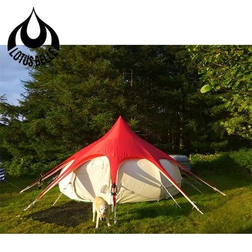 丹大戶外【Lotus Belle】英國 5米蓮花帳篷頂布外罩 紅色