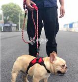 狗狗牽引繩 狗狗牽引繩背心式遛狗繩泰迪柯基法斗中小型犬胸背帶狗鍊子狗背帶 伊芙莎