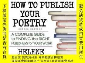 二手書博民逛書店How罕見To Publish Your PoetryY255562 Ciaravino, Helene Sq