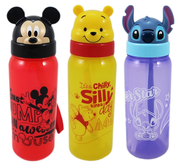 【卡漫城】 迪士尼 翻蓋 冷 水壺 二選一 500ML ㊣版 米奇 維尼熊 Winnie Mickey Pooh 吸管