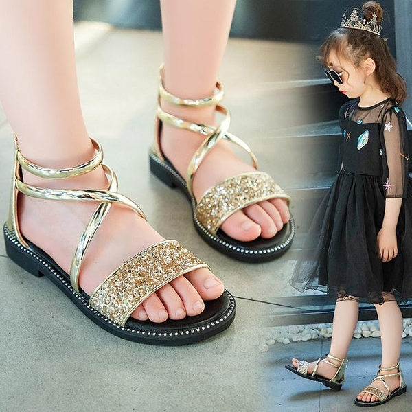 女童涼鞋 新款兒童軟底時尚公主夏季涼鞋女童 淇朵市集