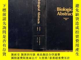 二手書博民逛書店Biological罕見abstracts 1991 volume 91 Number 8Y302069