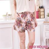 【RED HOUSE-蕾赫斯】田園花朵短褲(粉色)
