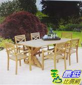 [COSCO代購] 促銷至10月26日   W1500044 尤加利木製餐桌椅7件組