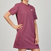 Nike AS W NSW TCH FLC DRESS 女子 粉色 基本款 洋裝 短袖 CJ3874-528