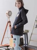 【2%】新品 miffy X 2% 連帽立領防水風衣外套-黑