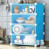 碗櫃簡易餐邊柜小型家用多功能組裝儲物柜簡約現代塑料櫥柜 JY179【Sweet家居】