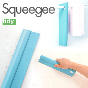 日本tidy吊掛式刮水板(大型/水藍色) 兼顧收納與外型