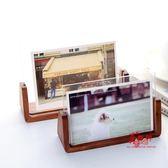 壓克力相框 韓式創意木質相框5寸6寸7寸8寸壓克力婚紗照片框兒童櫸木U型畫框 3色