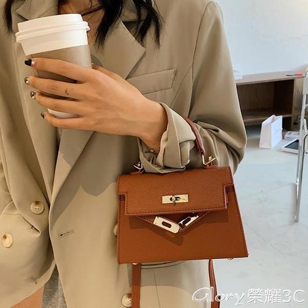 【3C】凱莉包 高級感小包包女2021流行新款潮韓版時尚側背斜背包洋氣手提凱莉包  新品新包 618購物