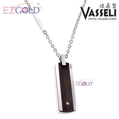 VASSELI ◤雪梨承諾◢ 鎢鋼鑽石墜(男)