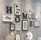 照片牆相框牆客廳現代簡約相片牆餐廳實木相框掛牆創意組合照片牆