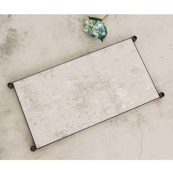 收納架/置物架/層板【配件類】90x45cm 鐵木藝匠烤漆黑鐵框+清水模層板 極致耐重(含夾片) dayneeds