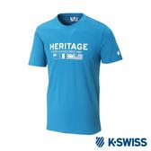K-SWISS Heritage Flag Tee印花短袖T恤-男-藍