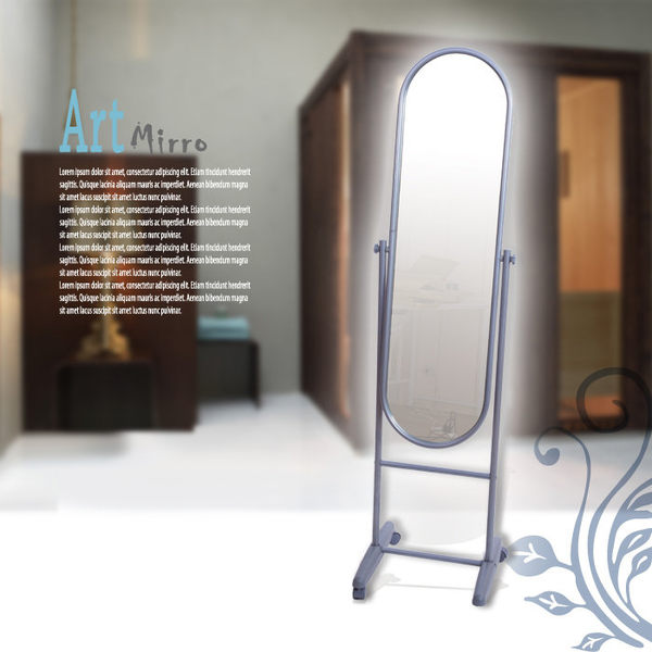 穿衣鏡【澄境】I-K-MR096 理想加大鋼管穿衣鏡 立鏡 壁鏡 全身鏡 電腦桌 電腦椅 書櫃 鞋櫃 斗櫃