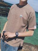 短袖t恤 潮打底衫大碼半袖韓版夏季上衣夏裝衣服寬松男士體恤衫 GB2949『樂愛居家館』