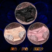 ZUEU無痕女士內褲女純棉襠中腰性感蕾絲邊三角女式短褲頭春夏大碼