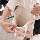 帆布包女單肩側背包包時尚小清新手提帆布袋【橘社小鎮】