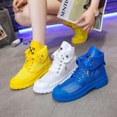 歐洲站2020新款網鞋短靴女夏季網紗透氣兩穿彩色馬丁靴鏤空涼靴潮 韓國時尚週