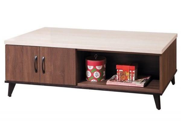 8號店鋪 森寶藝品傢俱 b-22 品味生活 客廳 沙發組系列172-4 麥納得淺胡桃仿石紋大茶几