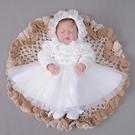 嬰兒洋裝 女寶寶周歲裙子 滿月百天禮服dj