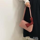 網紅復古少女小包包2021新款潮時尚質感古著側背包學生森繫腋下包 韓國時尚週