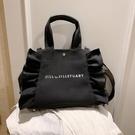 大容量女士包包女新款時尚帆布斜背包/側背包單肩百搭手提托特包 極簡雜貨