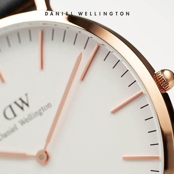 Daniel Wellington DW 手錶 32mm玫瑰金框 Classic Petite 深棕真皮皮革錶
