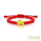 今生金飾 Q版貔貅串珠彌月手環 純黃金串珠手環